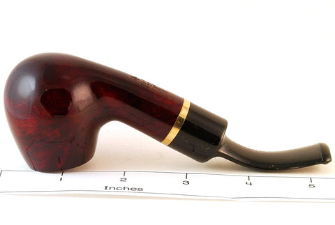 Mr. Brog Full Bent Tobacco Pipe - Model No: 81 Maestro Mahogany - Mediterranean Briar Wood - Hand Made