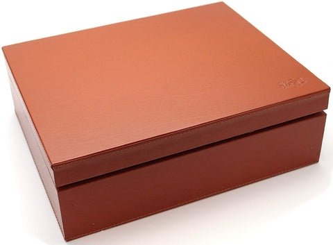Full Grade Buffalo Hide Desktop Leather Cigar Humidor