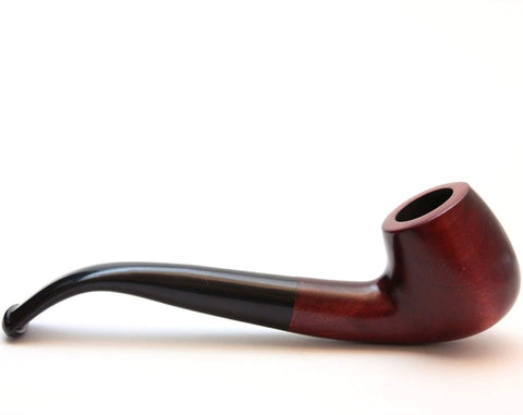 Mr. Brog Prince Tobacco Pipe - Model No: 54 Cafe Mahogany - Beech Wood - Hand Made