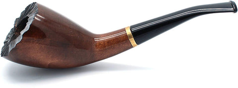 Mr. Brog Handmade Smoking Tobacco Pipe - Model No. 310 Indigo Walnut - Pear Wood Roots