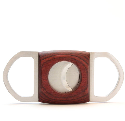 Dual Blades Guillotine Cigar Cutter - Wood & Stainless Steel
