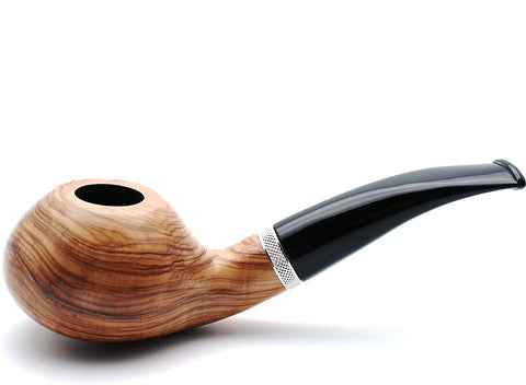 Mr. Brog Handmade Smoking Tobacco Pipe - Model No. 148 Louche Natural - Briar Wood