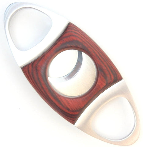 Dual Blade Guillotine Cigar Cutter - Wood & Stainless Steel (Multiple Colors)