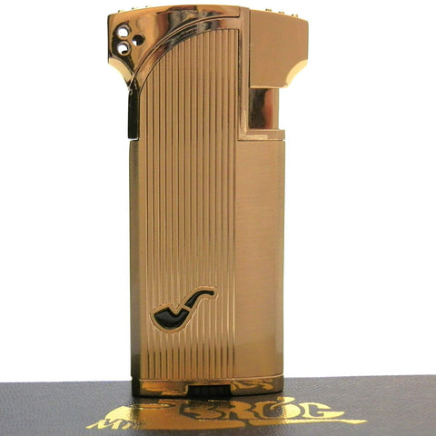 Dual Tobacco & Cigar Pipe Lighter - 90 Angle Soft Flame for Tobacco Pipe & Straight Torch Flame for Cigar