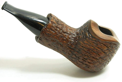 Mr. Brog Bulldog Tobacco Pipe - Model No: 52 Scoot Walnut Rusticated - Pear Wood Roots - Hand Made</b>