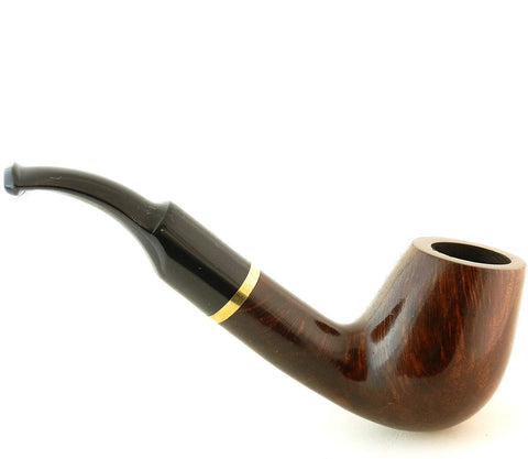 Mr. Brog Full Bent Tobacco Pipe - Model No: 67 Full Bent Walnut - Mediterranean Briar Wood - Hand Made