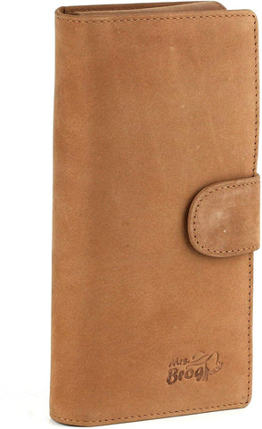 Leather Cigar Purse Travel Case - Credi Card Slots, Cutter & Tube Slots - Diesel Leather - [Tan]