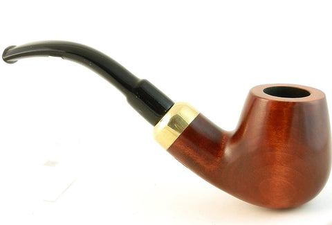 Mr. Brog Full Bent Tobacco Pipe - Model No: 22 Bent Stecker Pecan - Pear Wood Roots - Hand Made