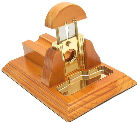 Mrs. Brog Table Top Cigar Cutter - Décor and Quality Cut in One Piece - Natural Brown