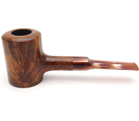 Mr. Brog Poker Tobacco Pipe - Model No: 107 Aged Golden Pecan - Mediterranean Briar Wood - Hand Made