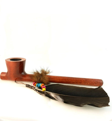 Lakota Indian Spirit Peace Pear Wood Tobacco Pipe