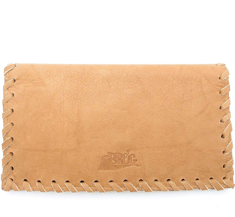 Tobacco Pouch - Authentic Calf Antique Leather - Tan