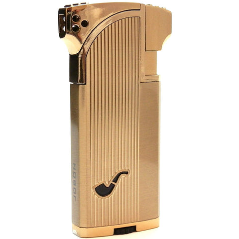 Mr. Brog Dual Tobacco & Cigar Pipe Lighter - 90 Angle Soft Flame for Tobacco Pipe & Straight Torch Flame for Cigar