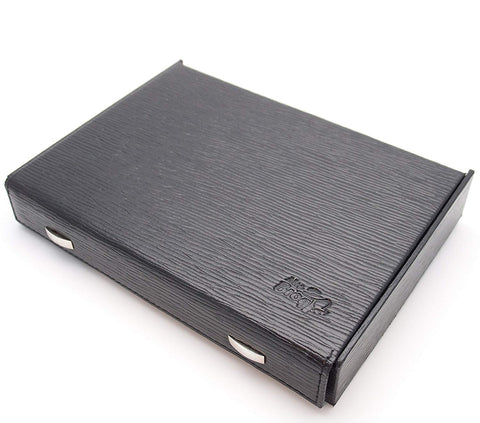 Travel Cigar Humidor Box Great Carry Along - Authentic Full Grade Leather - Black