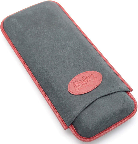 Buffalo Hide Leather Cigar Case for 3 with Soft Matte Finish