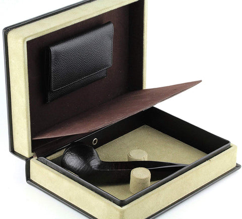 Mr. Brog Elegant Full Grain Leather Tobacco Pipe Case - Travel Box