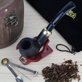No. 24 Bent Army Pear Wood Pipe with Accessories Kit