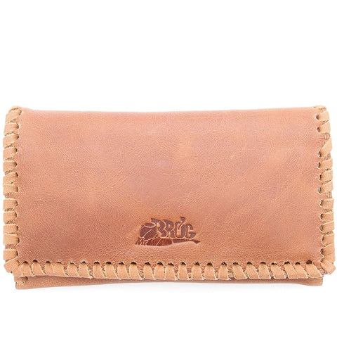 Tobacco Pouch - Authentic Full Grade Cow Hide Leather - Tan