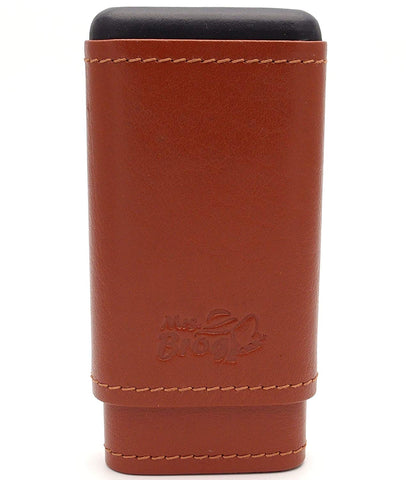 Spanish Leather Cedar Cigar Cases - Authentic Full Grade Buffalo Hide Leather