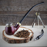 No. 21 Old Army Pear Wood Pipe (Dual Stems)