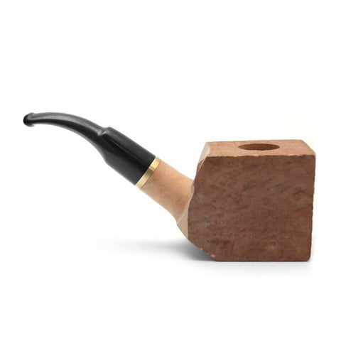 Tobacco Pipe Briar Wood Bent Block - Pre Drilled