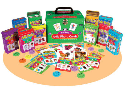 Artic Photos Fun Deck: Set 1 Combo (Includes: S, R, L, Blends, Z, SH, CH and TH