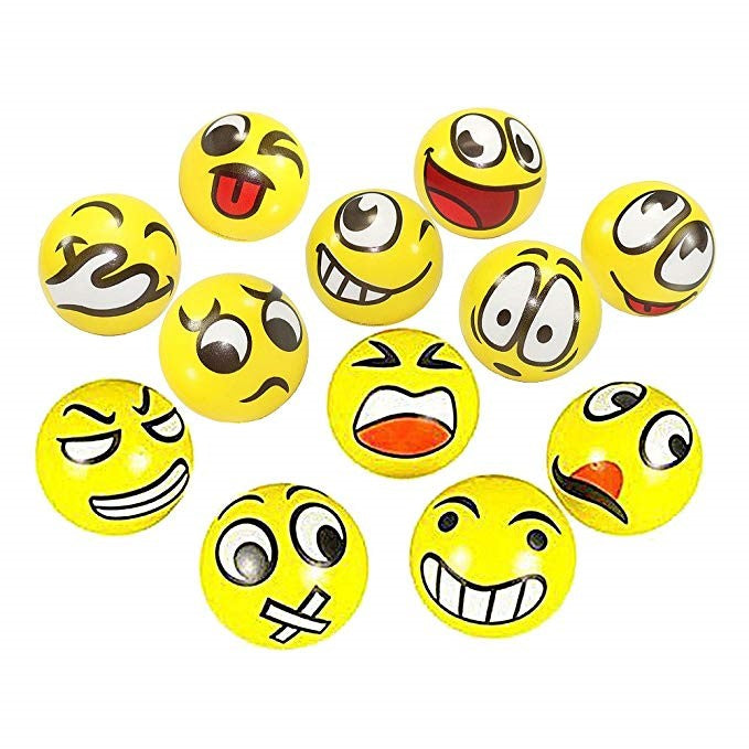 Assorted Emojis Sold in Packages of 3 balls.