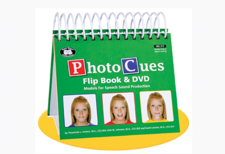 Photo Cues Flip Book & DVD  Models for Speech Sound Production