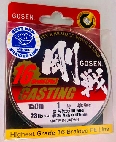 C16150L10 - GOSEN 16 Ply Braid PE 1 - 23lb