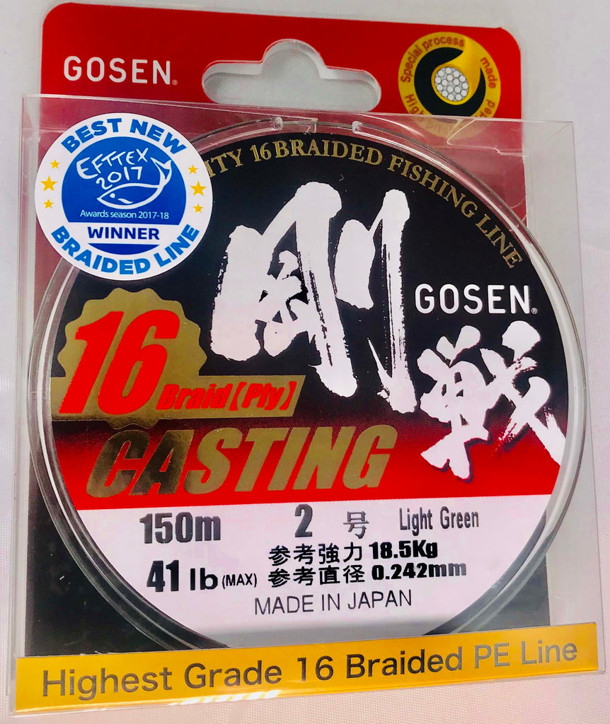 C16150L20 - GOSEN 16 Ply Braid PE 2 - 41lb