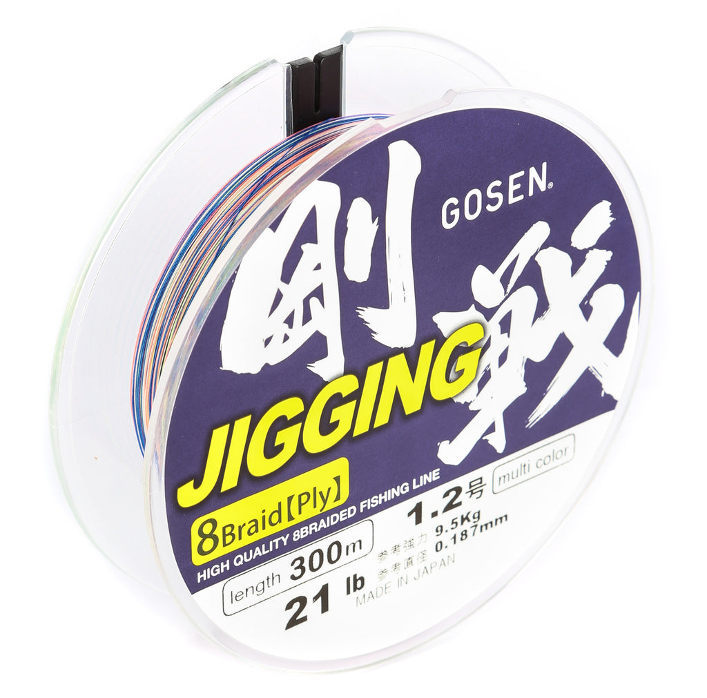 J300512 - GOSEN Jigging Braid 8 ply PE 1.2 300m