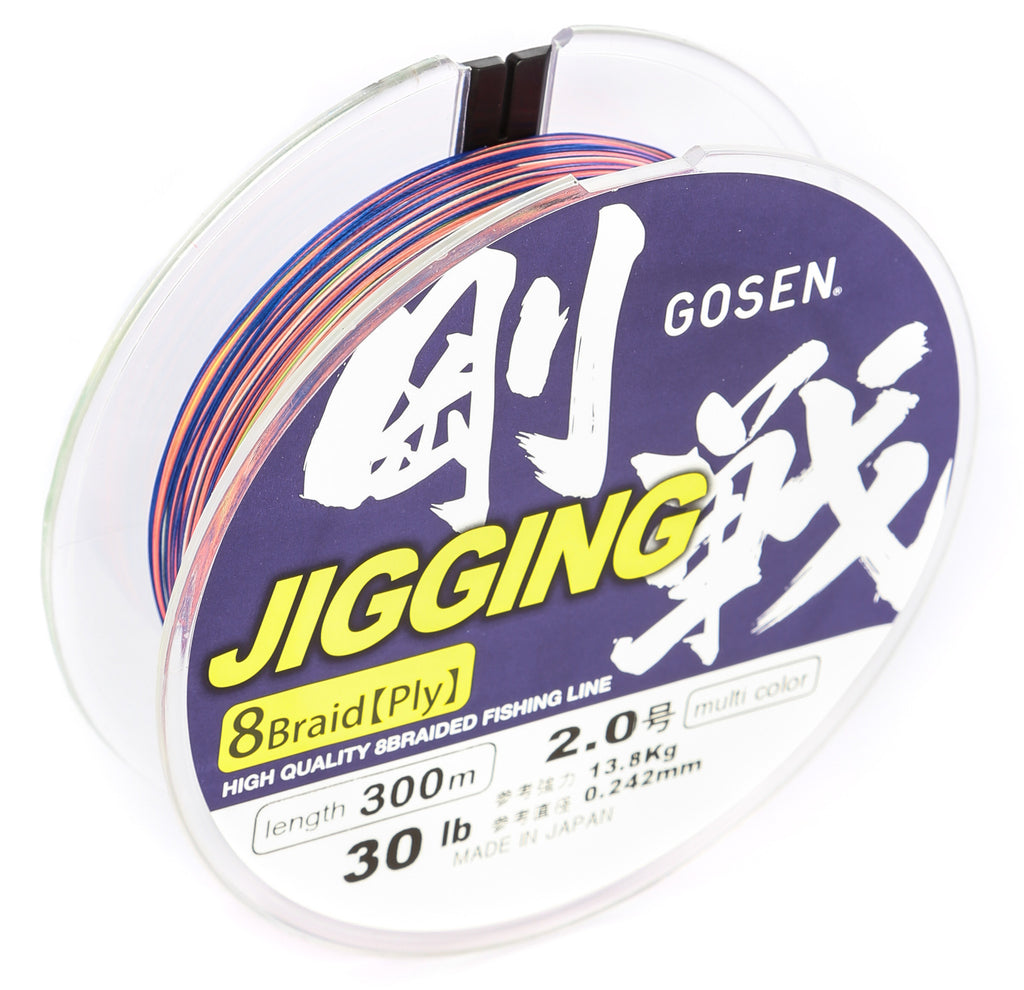 GOSEN Jigging Braid 8 ply PE 2.0 300m