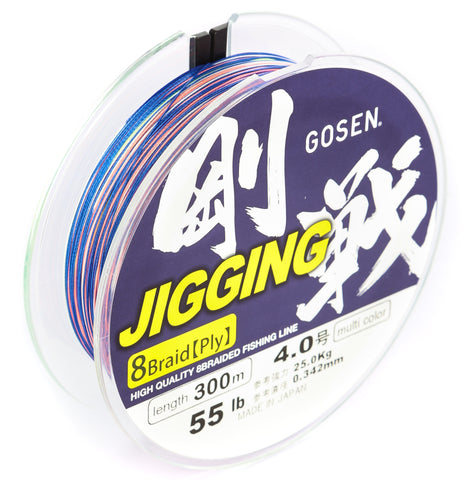 GOSEN Jigging Braid 8 ply PE 4.0 300m