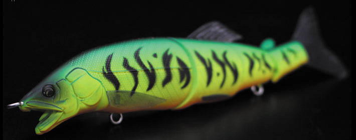 Little Jack Gorgon 125mm Swimbait Lure #08 Mat Tiger