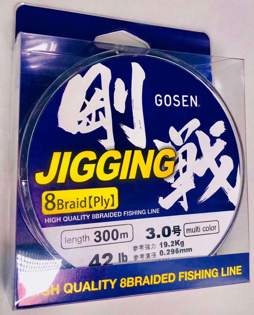 J300530 - GOSEN Jigging Braid 8 ply PE 3 300m