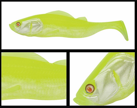 "PTS5210 - ADUSTA Pick Tail Swimmer 5"" - Chartreuse White"