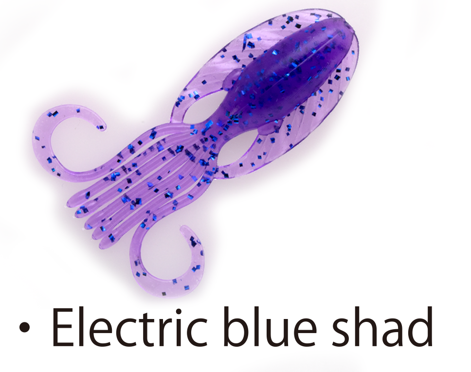 "Bait Breath Slow Swimmer 3.5"" - Electric Blue Shad"