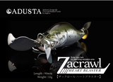 ZHB012 - Adusta Zacrawl Heart Blaster - 012 Golden Peacock Bass