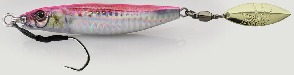 Little Jack Metal Adict Type 1 jig 80g - 03 Pink Sardine Vertical hologram