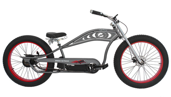 Micargi Cyclone Electric Fat Tire Beach Cruiser Bike