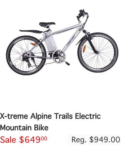 X-treme Alpine Trails Electric Mountain Bike