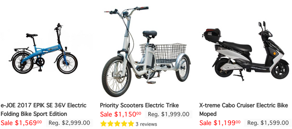 FASTEST ELECTRIC BIKES: $1,000 AND UP