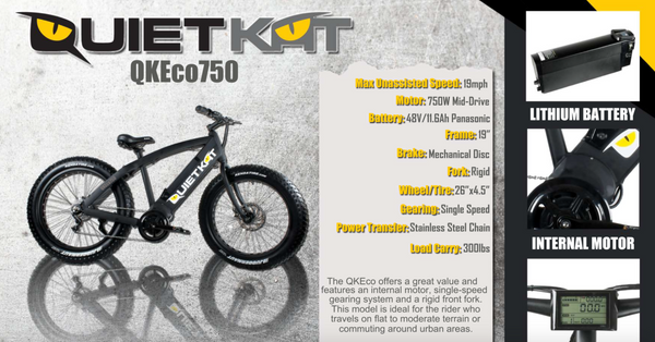 QuietKat FatKat 48V Electric Fat Tire Bike QKEco750