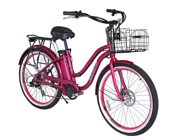 X-Treme Malibu Beach Cruiser Electric Bike 24V8AH 300W
