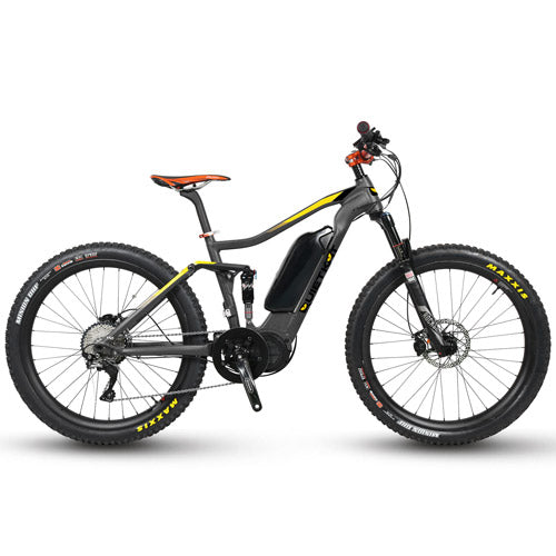 QuietKat Quantum, 48V, 750/1000 Watt Full Suspension Electric Mountain Bike Electric Fat Tire Bikes - Electric Bike City