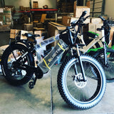 QuietKat Warrior 1000 48V, 1000 Watt Mid-Drive Electric Fat Tire Hunting Bike Electric Fat Tire Bikes - Electric Bike City
