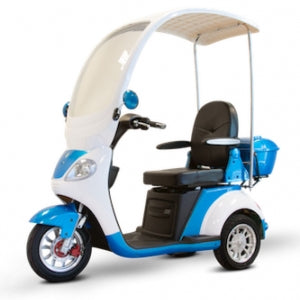 E-Wheels EW-44 Three-Wheel Electric Mobility Scooter with Canopy and Windshield Electric Scooters - Electric Bike City