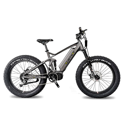 QuietKat RidgeRunner 48V, 750/1000 Watt Full Suspension Fat Tire Electric Mountain Bike Electric Fat Tire Bikes - Electric Bike City