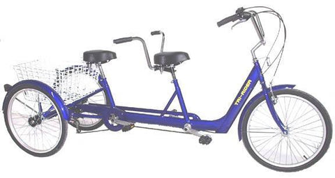 Belize Bike Twin Tri-Rider Tandem Trike (Electric Motor Option Available) Electric Bikes - Electric Bike City
