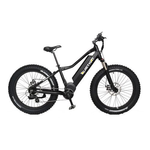 Quietkat Canyon 1000W 48V Mid-Drive Electric Fat Tire Mountain Bike Electric Mountain Bikes - Electric Bike City